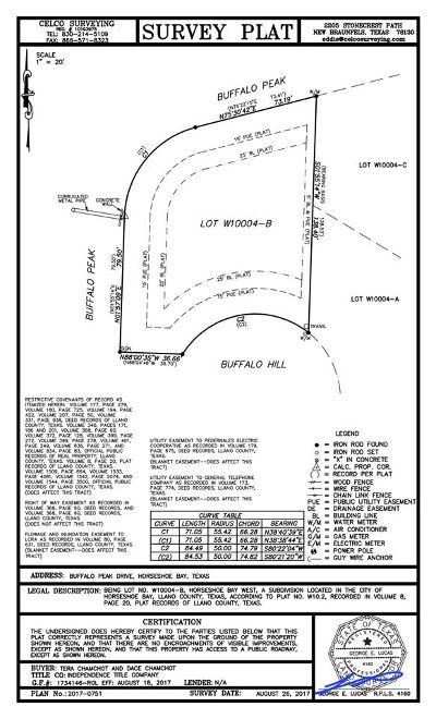 Horseshoe Bay W Residential Lots & Land For Sale: Buffalo Peak