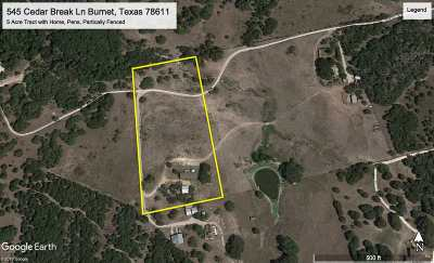 Burnet Manufactured Home For Sale: 545 Cedar Break Ln