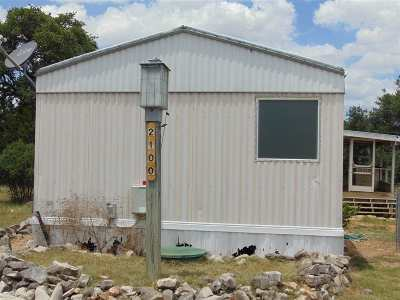 Horseshoe Bay TX Manufactured Home For Sale: $59,900
