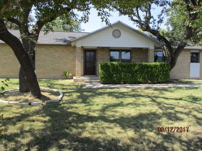 Kerrville Single Family Home For Sale: 1320 Stadium Dr