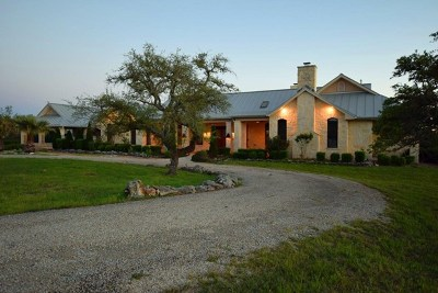 Kerrville TX Single Family Home For Sale: $1,599,000