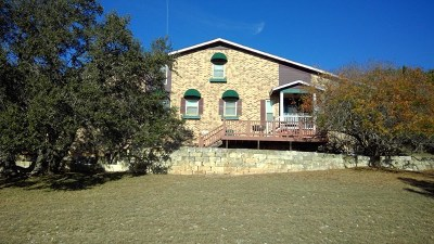 Gillespie County, Kerr County, Kimble County, Bandera County, Real County, Edwards County, Mason County, Uvalde County, Medina County, Kendall County Single Family Home For Sale: 905 Tomahawk Trail