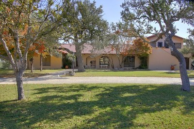 Kerrville Single Family Home For Sale: 2398 Goat Creek Rd