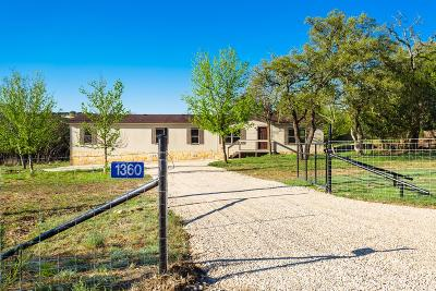 Kerrville Single Family Home For Sale: 1360 Ranchero Rd