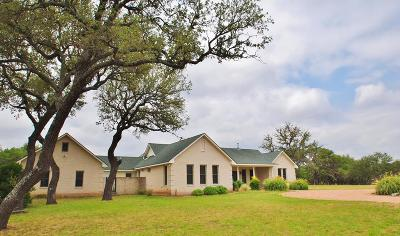 Fredericksburg TX Single Family Home For Sale: $975,000