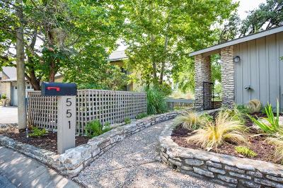 Kerrville Single Family Home For Sale: 551 Fairway Dr