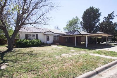 Bailey County, Lamb County Single Family Home Under Contract: 510 East 14th