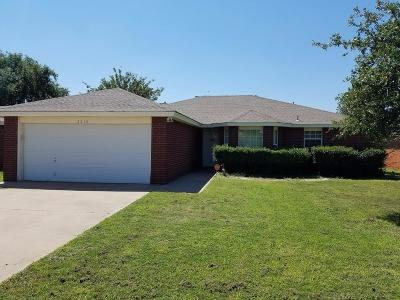 Lubbock Single Family Home Under Contract: 2215 89th Street