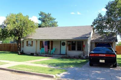 Lubbock TX Single Family Home For Sale: $105,000