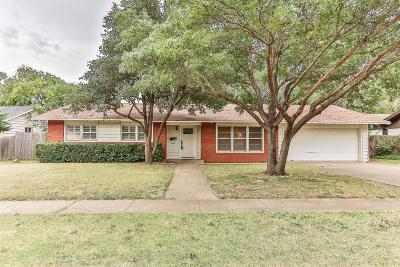 Lubbock Single Family Home For Sale: 3207 40th Street