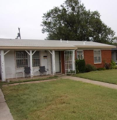Lubbock County Single Family Home Under Contract: 2707 East 9th Street