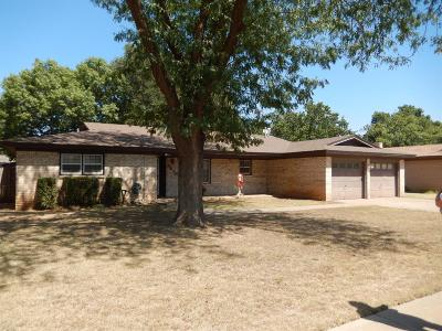 Lubbock TX Single Family Home Under Contract: $165,000