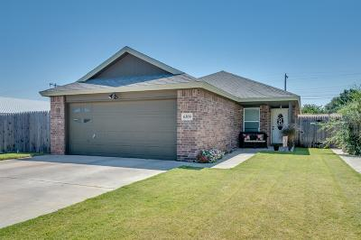 Lubbock Single Family Home Under Contract: 6309 26th Street