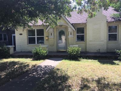 Lubbock Single Family Home For Sale: 3011 22nd Street