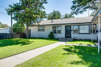 Lubbock TX Single Family Home For Sale: $89,900