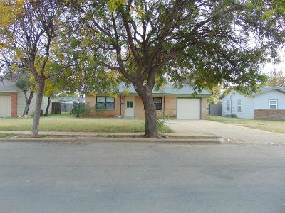 Lubbock Single Family Home Under Contract: 1911 73rd Street