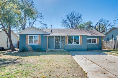 Lubbock Single Family Home Under Contract: 4813 40th Street