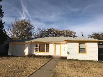 Lubbock TX Single Family Home For Sale: $100,000