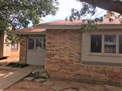 Lubbock Townhouse For Sale: 5757 38th Street