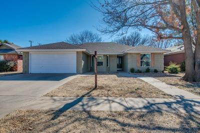 Lubbock Single Family Home Under Contract: 2739 80th Street