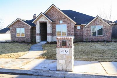 Lubbock Single Family Home For Sale: 7033 99th Street