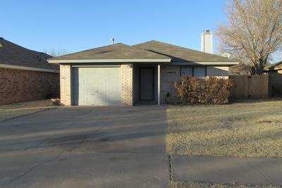 Lubbock Single Family Home For Sale: 2312 93rd Place