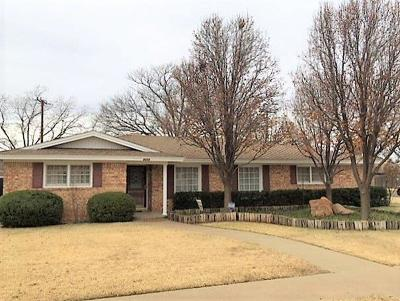 Lubbock Single Family Home For Sale: 6302 Nashville Drive