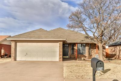 Lubbock Single Family Home Under Contract: 9616 Dover Avenue