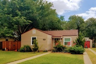 Lubbock Single Family Home Under Contract: 3311 27th Street
