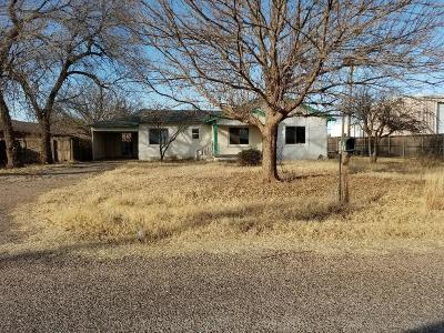 Shallowater TX Single Family Home For Sale: $38,000