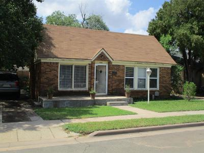 Lubbock TX Single Family Home For Sale: $108,000