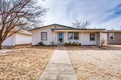 Lubbock TX Single Family Home For Sale: $72,000
