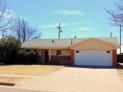 Lubbock TX Single Family Home Under Contract: $99,500