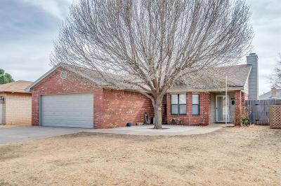 Lubbock Single Family Home Under Contract: 5909 71st Street