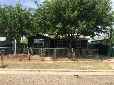 Lubbock TX Single Family Home For Sale: $39,000