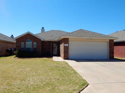 Lubbock Single Family Home Under Contract: 2209 99th Street