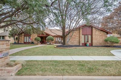 Lubbock Single Family Home For Sale: 4609 89th Street