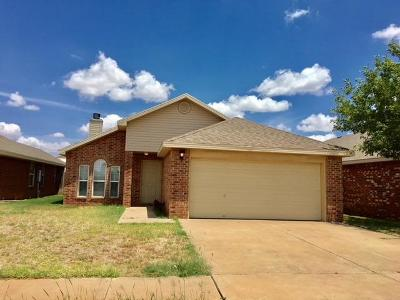 Lubbock Single Family Home Under Contract: 6544 89th Street