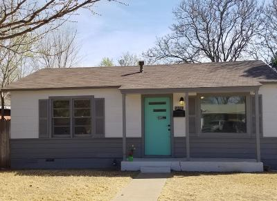 Lubbock TX Single Family Home For Sale: $73,000
