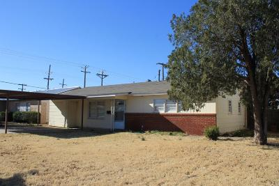 Lubbock TX Single Family Home For Sale: $79,000