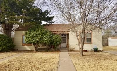 Lubbock County Single Family Home Under Contract: 2810 38th Street