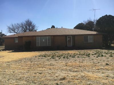 Bailey County, Lamb County Single Family Home For Sale: 1458 Farm Road 37