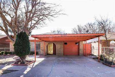 Lubbock Single Family Home Under Contract: 6341 29th Street