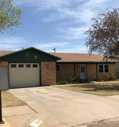 Idalou TX Single Family Home For Sale: $129,995