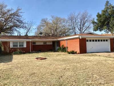 Lubbock Single Family Home Under Contract: 4609 31st Street
