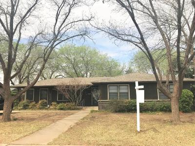 Lubbock Single Family Home For Sale: 3316 25th Street