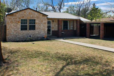 Lubbock Single Family Home Under Contract: 4013 31st Street