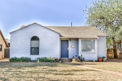 Lubbock TX Single Family Home For Sale: $79,500
