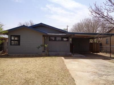 Lubbock County Single Family Home Under Contract: 3107 2nd Street