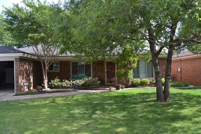 Lubbock Single Family Home Under Contract: 3207 93rd Street